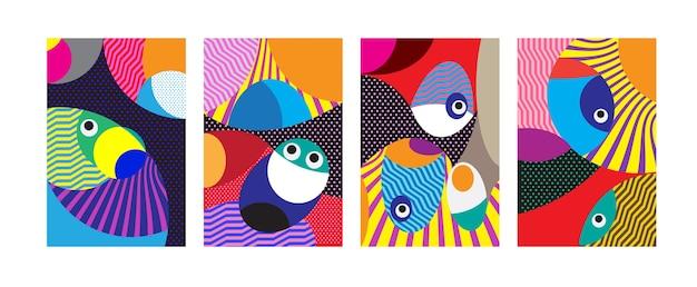 다채로운 기하학적 부족과 매력적인 패턴 배경
