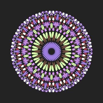 カラフルな幾何学的な円形石パターンマンダラアート