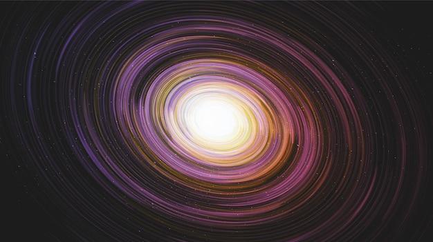 Красочный гигант интерстелла на фоне галактики со спиралью млечного пути, вселенной и звездной концепции назн, вектор