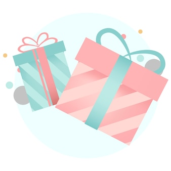 Colorful gift box design vectors