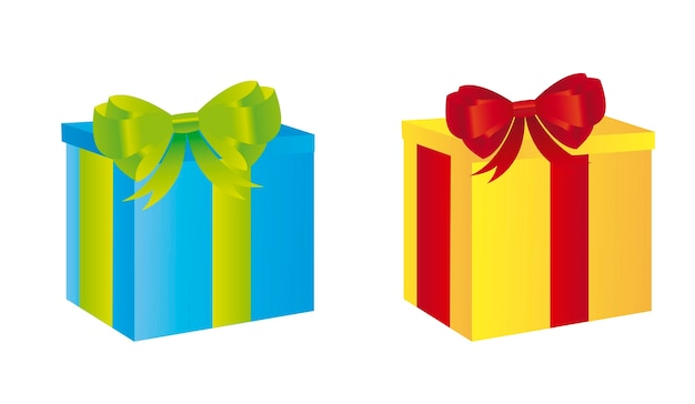 Colorful gifts isolated over white background vector