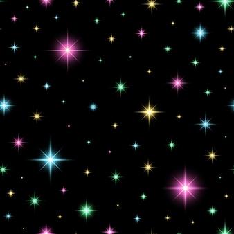 Colorful glittery seamless pattern.