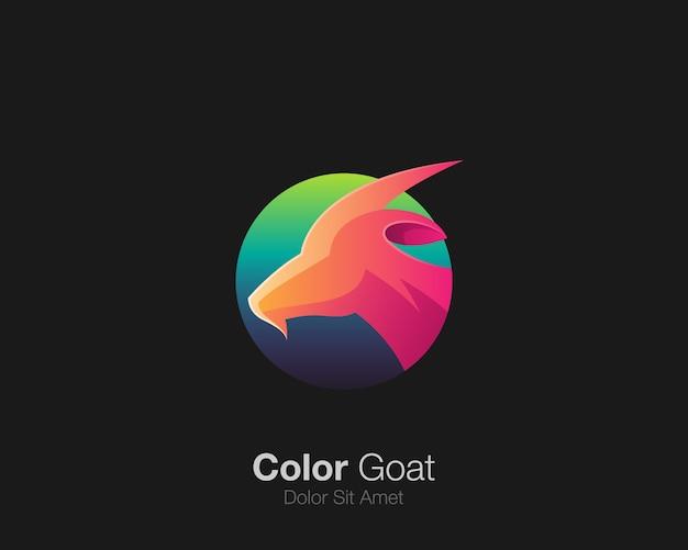 カラフルなヤギのロゴ