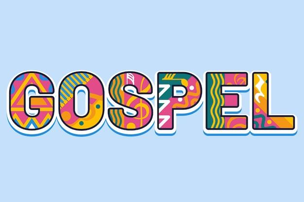 Красочная концепция слова евангелие
