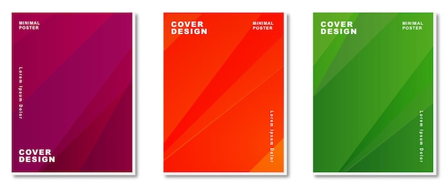 Colorful gradient abstract  background modern covers set