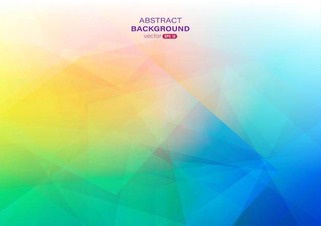 기하학적 모양으로 다채로운 그라데이션 추상적인 배경