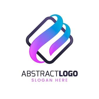 カラフルなグラデーションの抽象的なロゴ