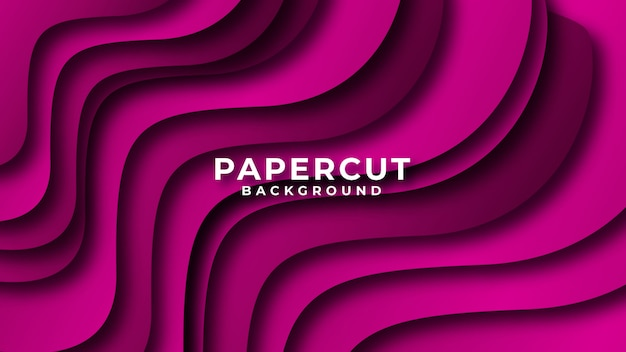 Colorful gradient abstract wave paper cut style background