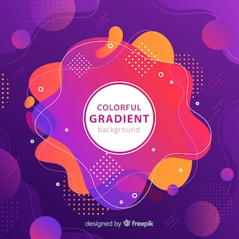 Colorful gradient backgound