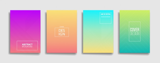 Colorful gradient background design set