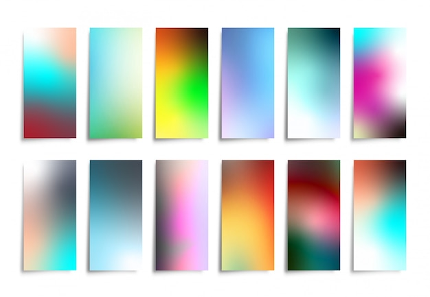 Colorful gradient background set