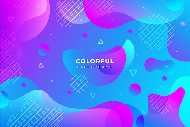 Colorful gradient background theme