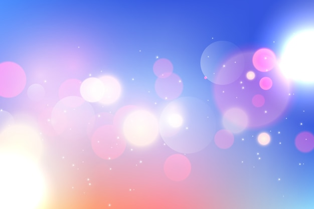 Colorful gradient background with bokeh effect