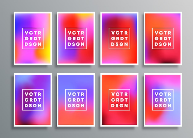 Colorful gradient backgrounds for flyer