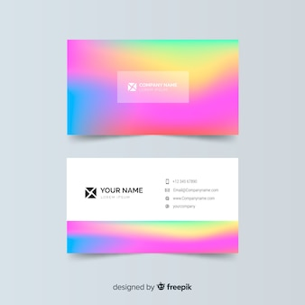 Colorful gradient business card template
