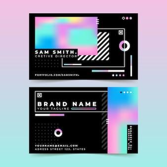 Красочный градиент шаблон визитной карточки