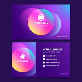 Colorful gradient business card