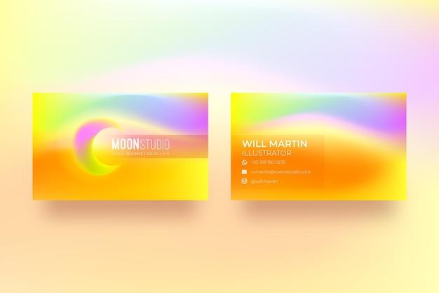 Biglietto da visita gradiente colorato