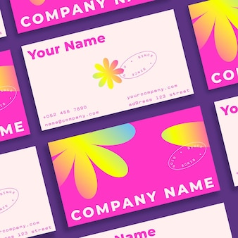 Colorful gradient business cards template