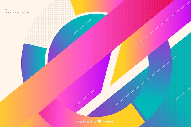 Colorful gradient circular shapes background