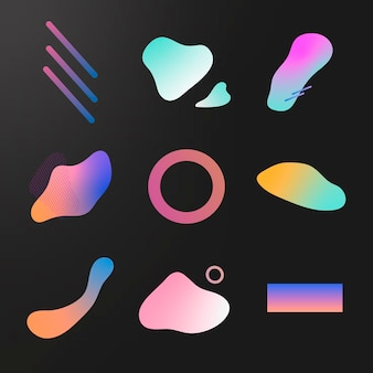 Colorful gradient collection