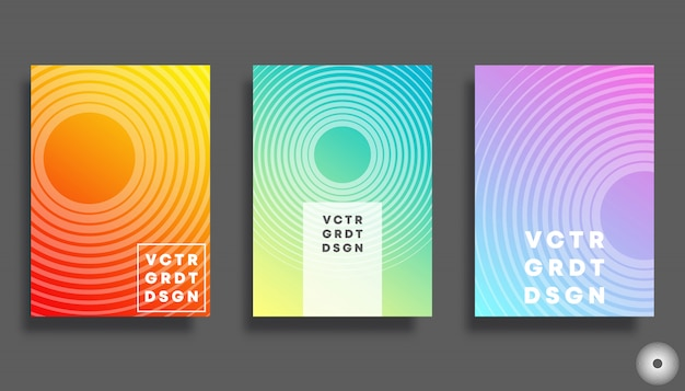 Colorful gradient cover for flyer