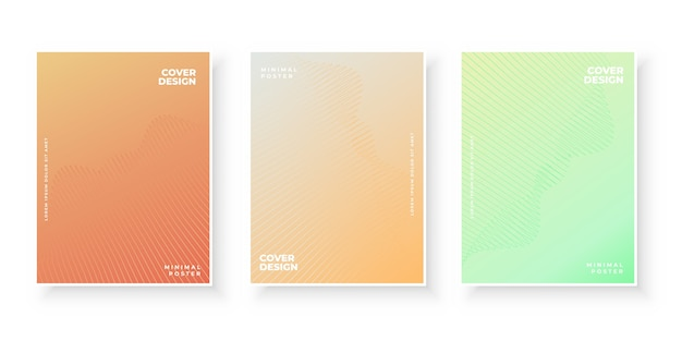 Set di design colorato copertine sfumate