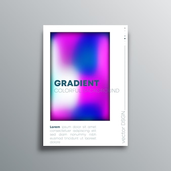 Colorful gradient design cover background