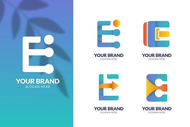 Коллекция красочных градиентных логотипов