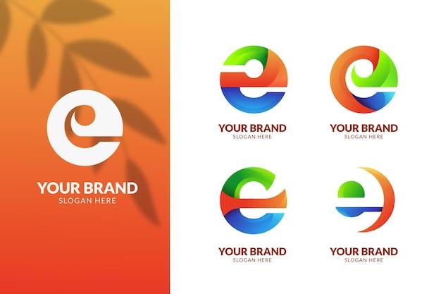 Colorful gradient e logo collection
