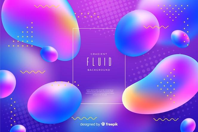 Colorful gradient fluid background