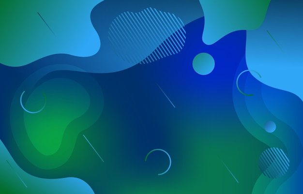 Colorful gradient fluid liquid dynamic shape background
