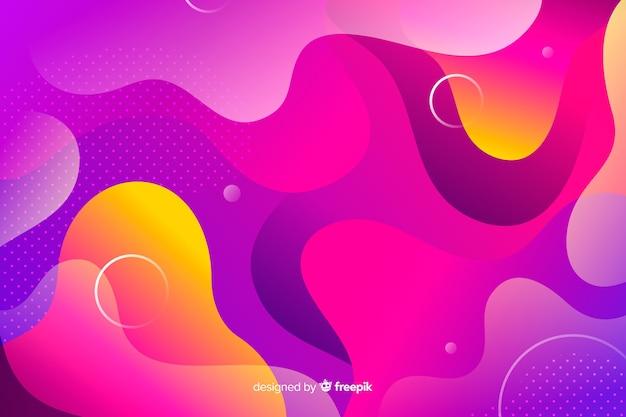 Красочный фон модели градиентной жидкости