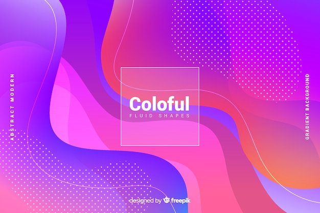 Colorful gradient fluid shapes background