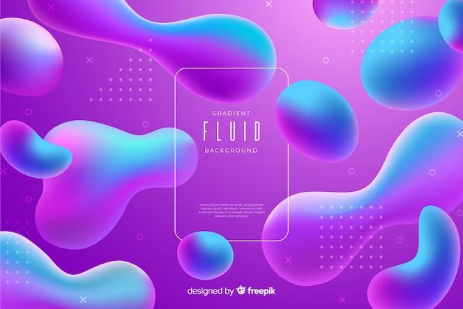 Colorful gradient fluid template