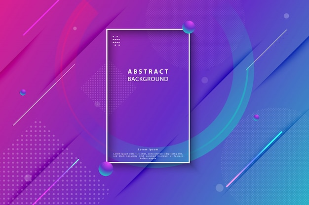 Colorful gradient geometric abstract background