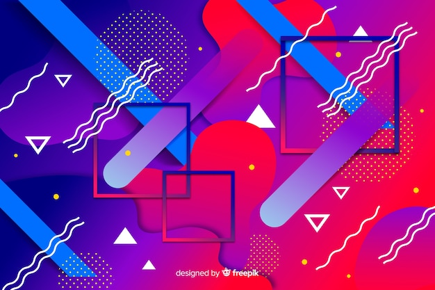 Colorful gradient geometric models background