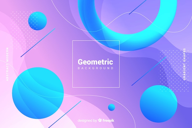 Colorful gradient geometric shapes background