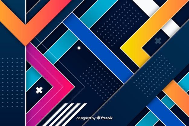 Colorful gradient geometric shapes design