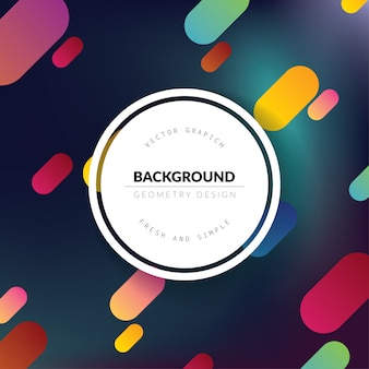 Colorful gradient geometry background