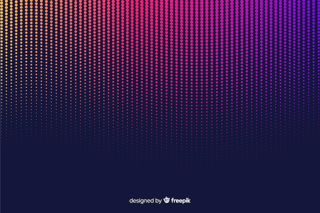 Colorful gradient halftone effect background