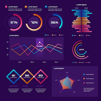 Colorful gradient infographic concept