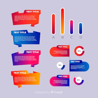 Красочный градиент инфографики шаблон
