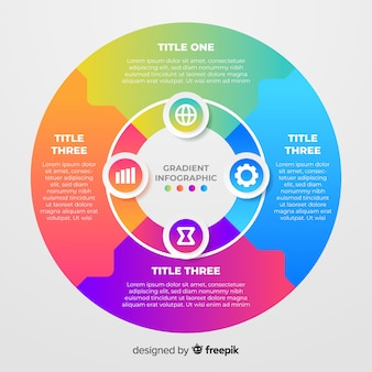 Colorful gradient infographic template