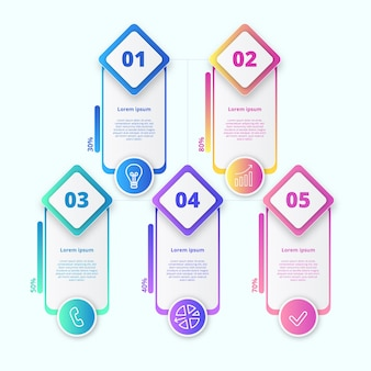 Colorful gradient infographic
