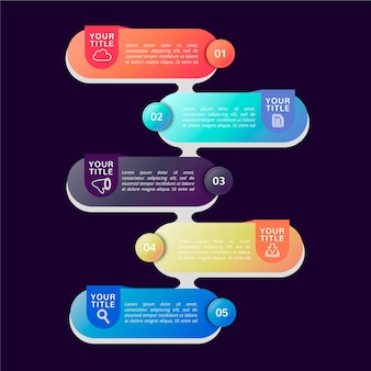 Красочный градиент инфографики