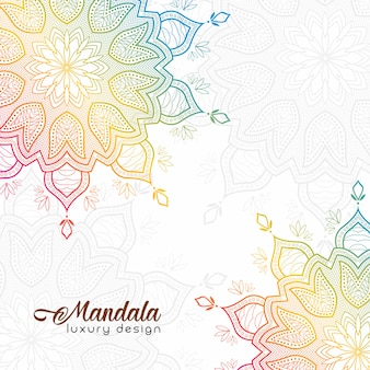 Colorful gradient mandala background
