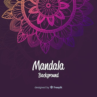 Colorful gradient mandala concept background