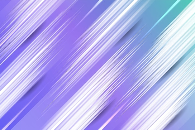 カラフルなグラデーションの最小限の幾何学的な線の背景
