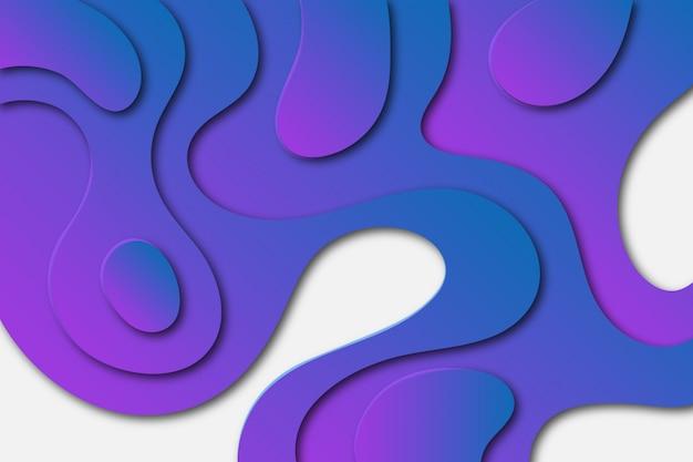 Colorful gradient paper cut background